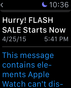Apple Watch - email