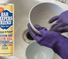 Cleaning with Bar Keepers Friend