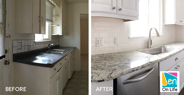 Beach Bungalow Kitchen Before and After