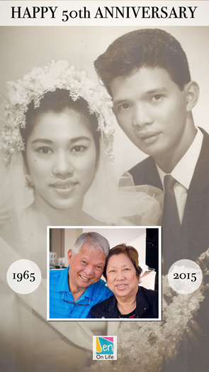 Happy 50th Anniversary Mom and Dad!