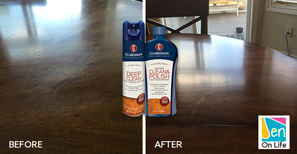 Protect your wood furniture with Guardsman Deep Clean and Wood Polish Cream