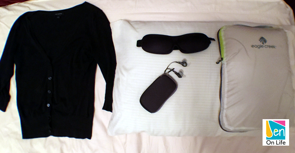 Items to bring when traveling to get some sleep.