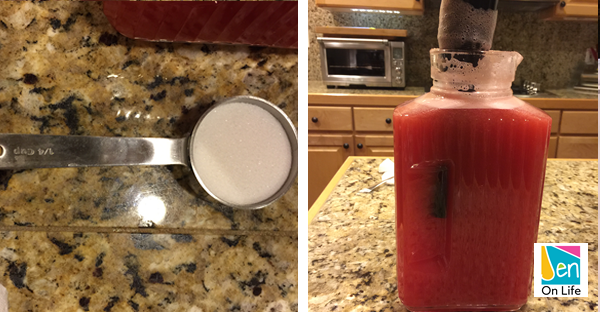 Watermelon Drink (Step 8)