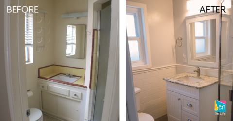 Beach Bungalow Master Bathroom Remodel: Before + After