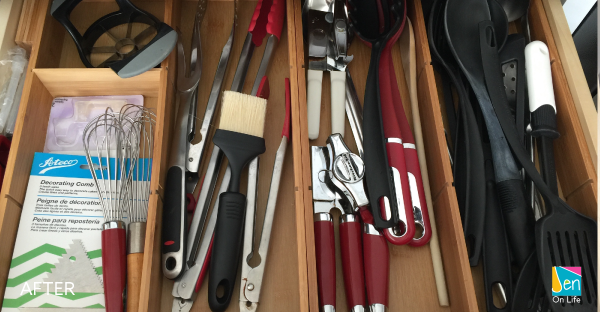 Get Organized Drawers with Drawer Organizers.