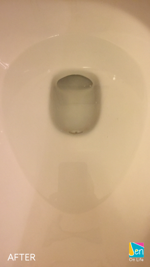 Clean toilet without the dirty ring