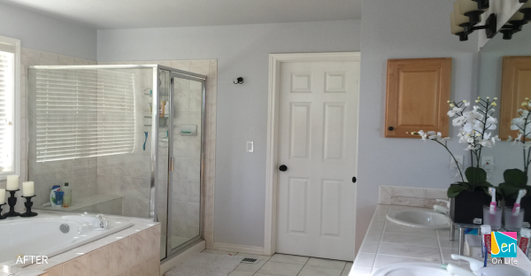 Paint Master Bathroom (AFTER)