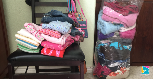 Spring Cleaning Closet: Donate Pile