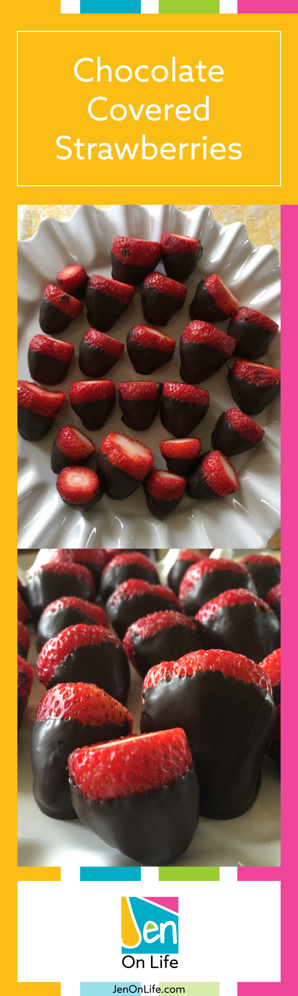 How to make chocolate covered strawberries. It makes a yummy snack / dessert for the entire family.