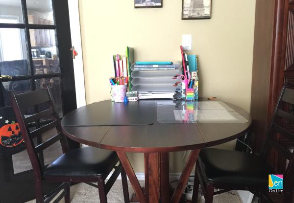 Preparing the kids' study area