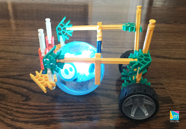 Sphero SPRK+ Handmade Chariot made by dad and daughter