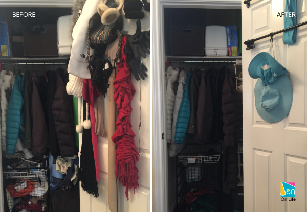 Organize Coat Closet: Before + After